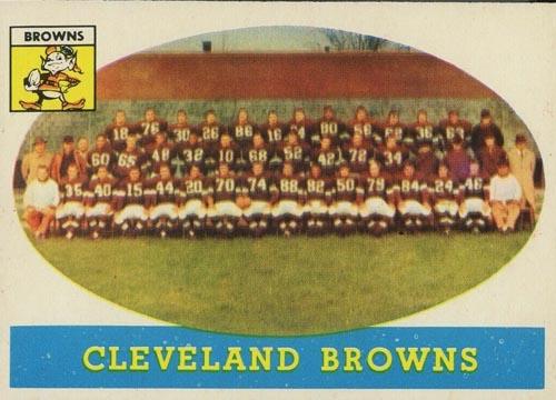 1958 Topps Brown Teams Card