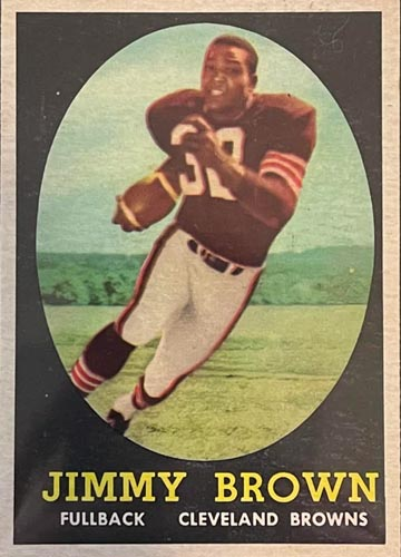 1958 Topps Jim Brown Rookie Front