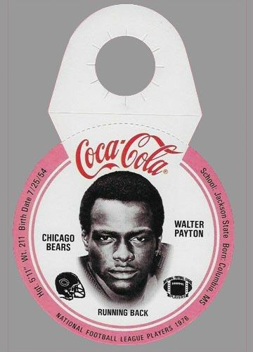 1976 Walter Payton Coca-Cola Disc