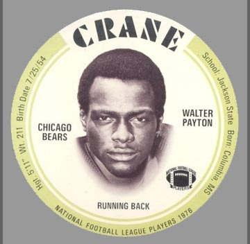 1976 Walter Payton Crane Disc
