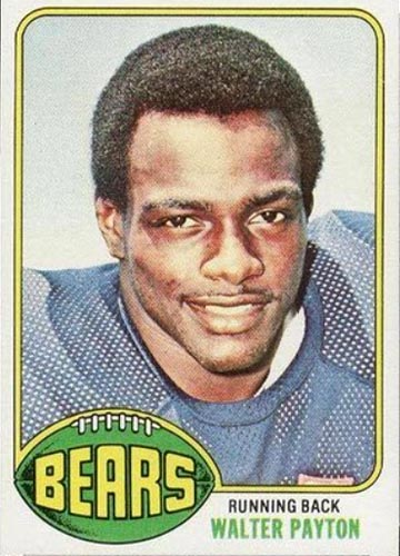 1976 Topps Walter Payton Rookie Card Front