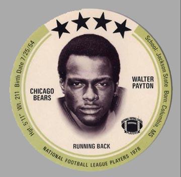1976 Walter Payton Saga Disc