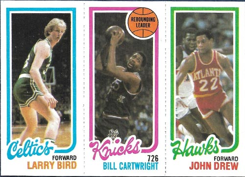 1980-81 Bird Rookie with Cartwright and Drew