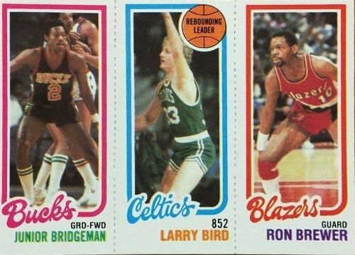 1980-81 Larry Bird Leader with Bridgeman and Brewer