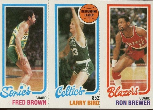 1980-81 Larry Bird Leader with Brown and Brewer