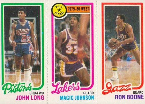 1980-81 Magic Johnson Leader with Long and Boone