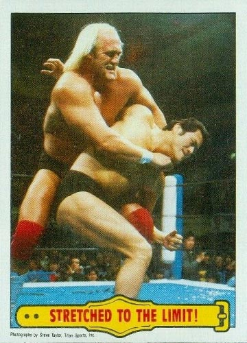 """1985 Topps Pro Wrestling Stars """"Stretched to the Limit"""" #26"""