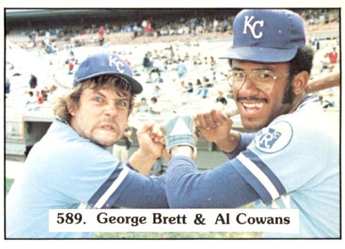 1975 SSPC Checklist #589 with George Brett and Al Cowans