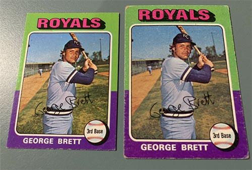 1975 Topps George Brett Rookie #228 Mini