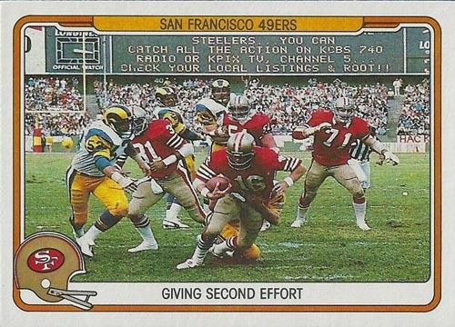 1982 Fleer Team Action 49ers #49