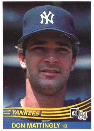 1984 Donruss Don Mattingly rookie card