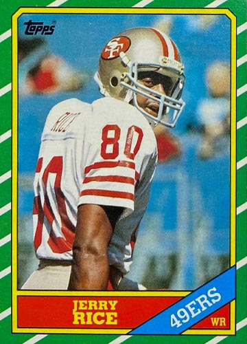 1986 Jerry Rice Topps Rookie Front
