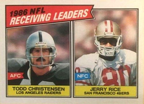 """1987 Topps """"1996 NFL Receiving Leaders"""" #228"""