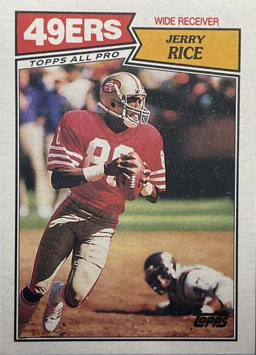 1987 Topps Jerry Rice (#115)